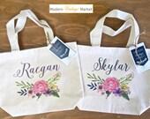 Tote Bag-1-Flower Girl bags-Tote Bags-Gift Bag-Wedding Bags-Bridesmaids Bags-Monogrammed Tote Bags-Custom Tote Bag-Modern Vintage Market