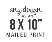 Printing Service - Any Design as 8 x 10 inches Art Print
