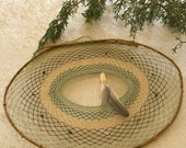 Willow Dream catcher - weeping willow earthy green boho native with tree agate stones calcite gemstone and prayer feather