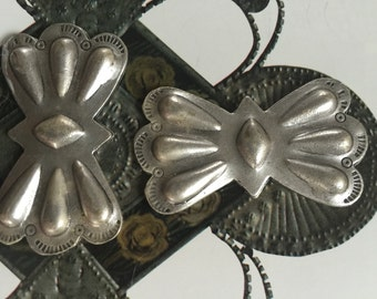 Silver Plated Cast Butterfly Concha  (1 pc)