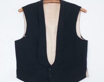 antique wool waistcoat - M/L