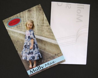 Kati Cupcake Molly Mae Sewing Pattern - Girls Dress Size 12 Months to 10 Years - Layered Dress Blouse - Uncut Factory Folded - DIY Crafts