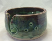 RESERVED FOR JESSICA V. Ceramic Yarn Bowl Green Green Merlot Knitting Bowl