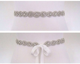 Wedding belt,Wedding sash,Crystal rhinestone belt,Bridal belt