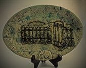 Peaceful Harmony Pictorial Ceramic Plate -100% Proceeds to Charity & Free Shipping