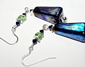 Midnight Blue Earrings OOAK