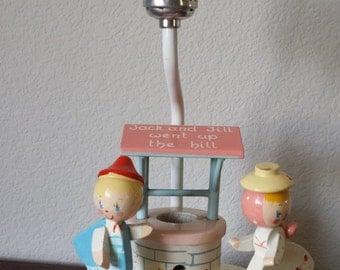 Jack and Jill Nursery Lamp w/ Nightlight