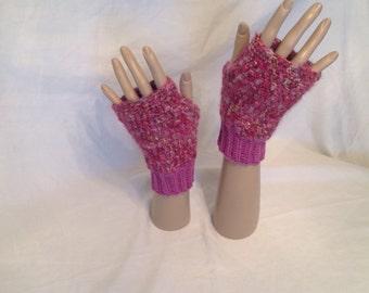 Fingerless gloves, handmade, crochet.