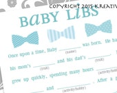INSTANT DOWNLOAD Baby Shower - Boy - Mad Lib Game and Guestbook. Keep these memories forever.