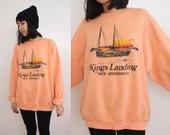 Kings Landing Peach Pink Sweater XL