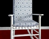 ON SALE Rocking Chair Cushion Cover - Nicole Grey, White, Ready to Ship