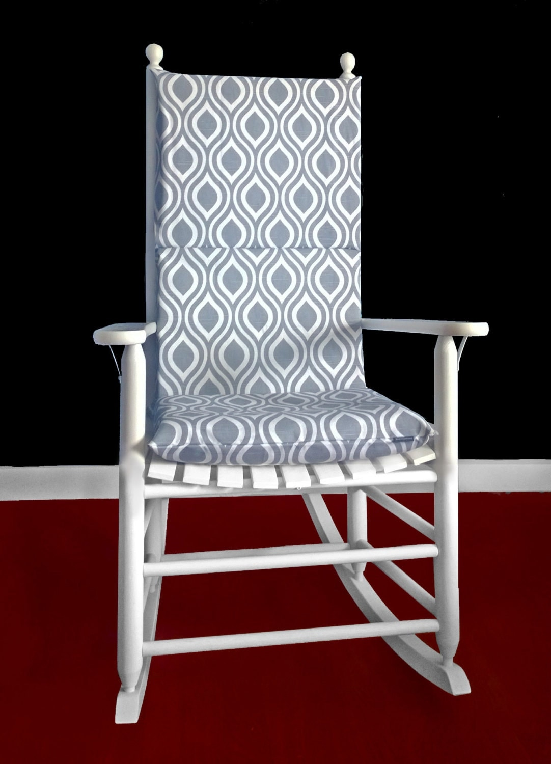Rocking Chair Cushion Nicole Grey By RockinCushions On Etsy