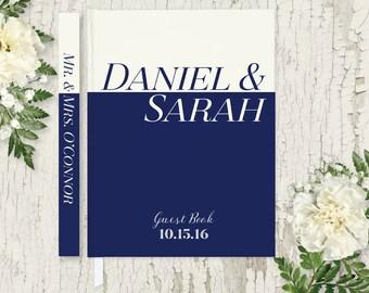 Wedding Guest Book Wedding Guestbook Navy Wedding Guest Book Personalized Guest Book Rustic Wedding Gift Nautical Wedding Guest Book GB108