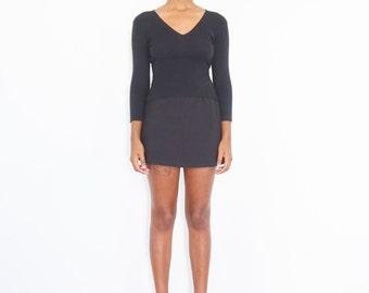 90s Black Crop Top Sweater