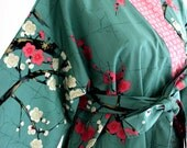 Robe - Robes - Cotton Robes -  Custom Kimono Robe - Bridesmaids Robe - Bath Robe - Cotton Kimono Robe