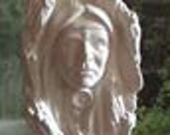 "15"", Southwestern Decor, Native American, American Indian, Driftwood, Brave, warrior, Ceramic bisque,U-Paint, Ready to paint"