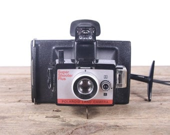 Polaroid Camera / Polaroid Land Camera / Polaroid Super Shooter Plus / Old Polaroid Camera / Vintage Polaroid Camera / Retro Polaroid