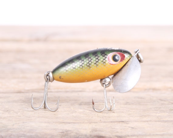 Vintage fishing lure jitterbug fishing lure antique for Jitterbug fishing lure
