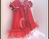 Little red candy cane dress
