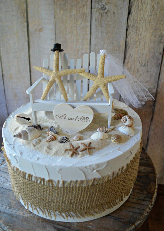 Adirondack chair wedding beach cake topper destination