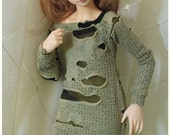 MNF slim MSD - Long Sleeve T or Sweater - Tattered Meadow - ver.4 - for abjd, bjd, mini Super Dollfie, Minifee A-line or Moe