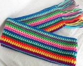 CROCHET SCARF Winter accessory ladies scarf with fringe