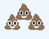 Poop Emoji Svg, Poop Svg Files, Svg Files, T- Shirt Designs, Vinyl Files, Cricut, Silhouette Cut Files