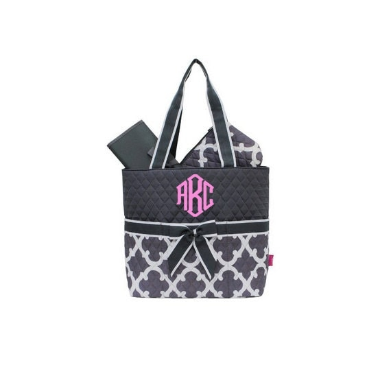 monogrammed diaper bags personalized diaper bags grey. Black Bedroom Furniture Sets. Home Design Ideas