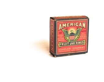 Vintage Canning Jar Rings - Fruit Jar Rings - Vintage Kitchen - Americana - Display Box - Craft Supplies - St. Louis Missouri