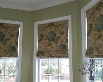 CUSTOM MADE Roman Shade up to 48 in - Functional - Your Fabric Made to Order