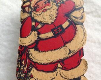 Cute Vintage Paper Santa Box