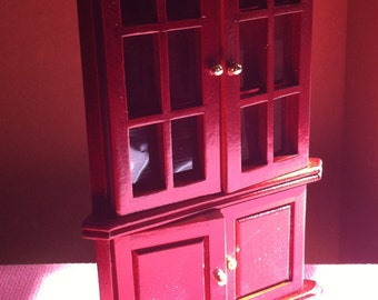 Mahogany Corner Cabinet For Dollhouse