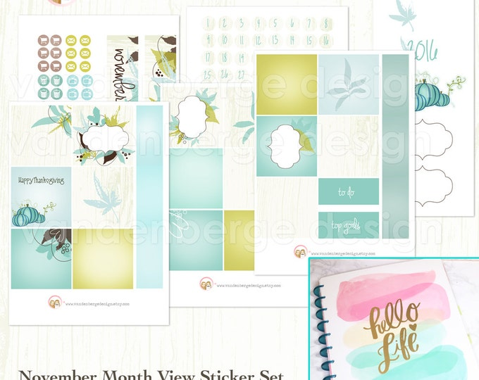 BIG Happy Planner November Month View Kit - sized to fit the MAMBI Big Happy Planner