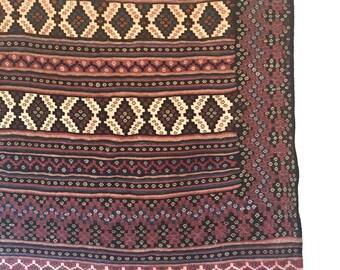 Vintage Kilim Rug, Hand Knotted Afghani Harat, 7 ft x 4.5 ft