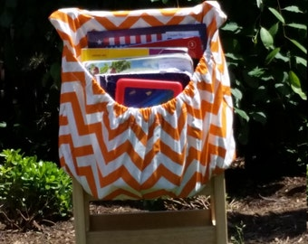 Orange ChEvRoN // Chair Pockets //  Seat Sacks // Teacher Classroom Organization <<16 inch PREMIUM>> End of Year SALE CoffeeKidsNDolls