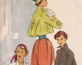 1940's Fashion, Vintage Swing Jacket Coat Pattern, McCall 7664