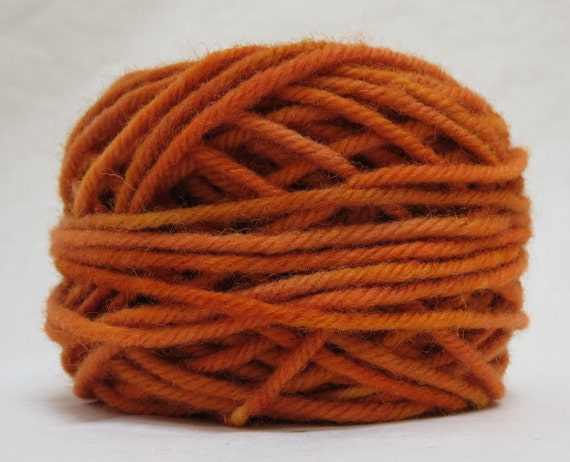 MANGO, 100% Wool, 2 oz 43  yards, 4-Ply, Bulky weight or 3 ply Worsted weight yarn, already wound into cakes, ready to use.