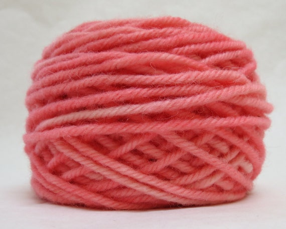 SALMON, 100% Wool, 2 oz. 43 yards, 4-Ply, Bulky weight or 3-ply Worsted weight yarn, already wound into cakes, ready to use, made to order.