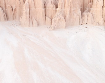 Desert Sands, Minimalist Decor, Cathedral Gorge Nevada State Park, Nature Fine Art Photography