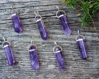Divine Amethyst Pendant with Sterling Silver    - Purification -  Protection - Connection -