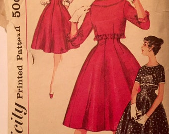 "Vintage 1950s Simplicity Misses' Skirt and Jacket Pattern 3073 Size 14 (34"" Bust) UNCUT"