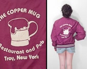 Copper MUG Jacket 80s Troy NY Maroon Nylon Unisex Sportsmaster