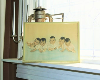 Vintage Dionne Quintuplets Photograph Circa 1930s