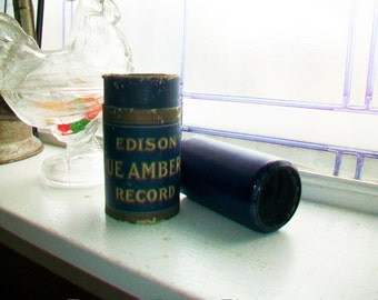 Antique Edison Cylinder Record 1834 The Little Flatterer Bells by Daab Blue Amberol Phonograph Record