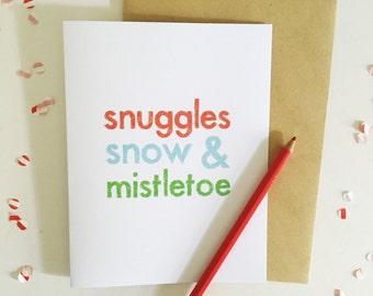 Christmas Card - Modern Holiday Card - Winter Greeting Card - Christmas Stationery - Holiday Stationery