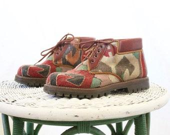 Vintage Turkish Kilim Boots