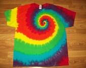 S M L Xl 2x 3x 4x 5x 6x Tie Dye Shirt, Kids, Adult, Plus size tie dye - Lime Rainbow tie dye