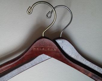 Pair Wooden Suit Hangers