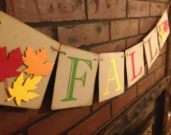 Fall Themed Banner Happy Thanksgiving Autumn Leaves