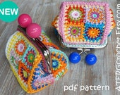 Crochet pattern PURSE 'petite square' by ATERGcrochet